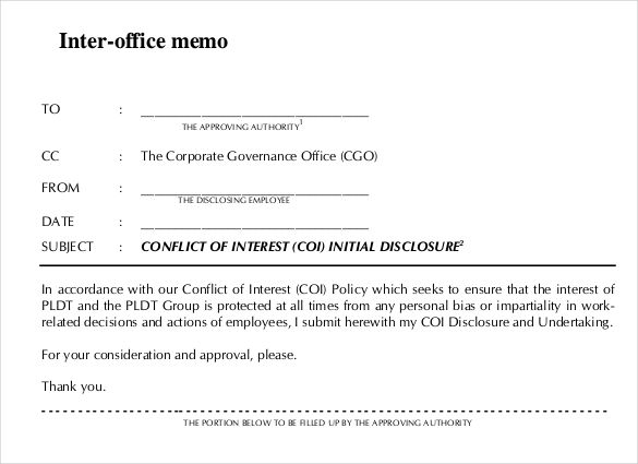 Interoffice Memo Template - 7 Free Word, PDF Documents Download - memo template free download
