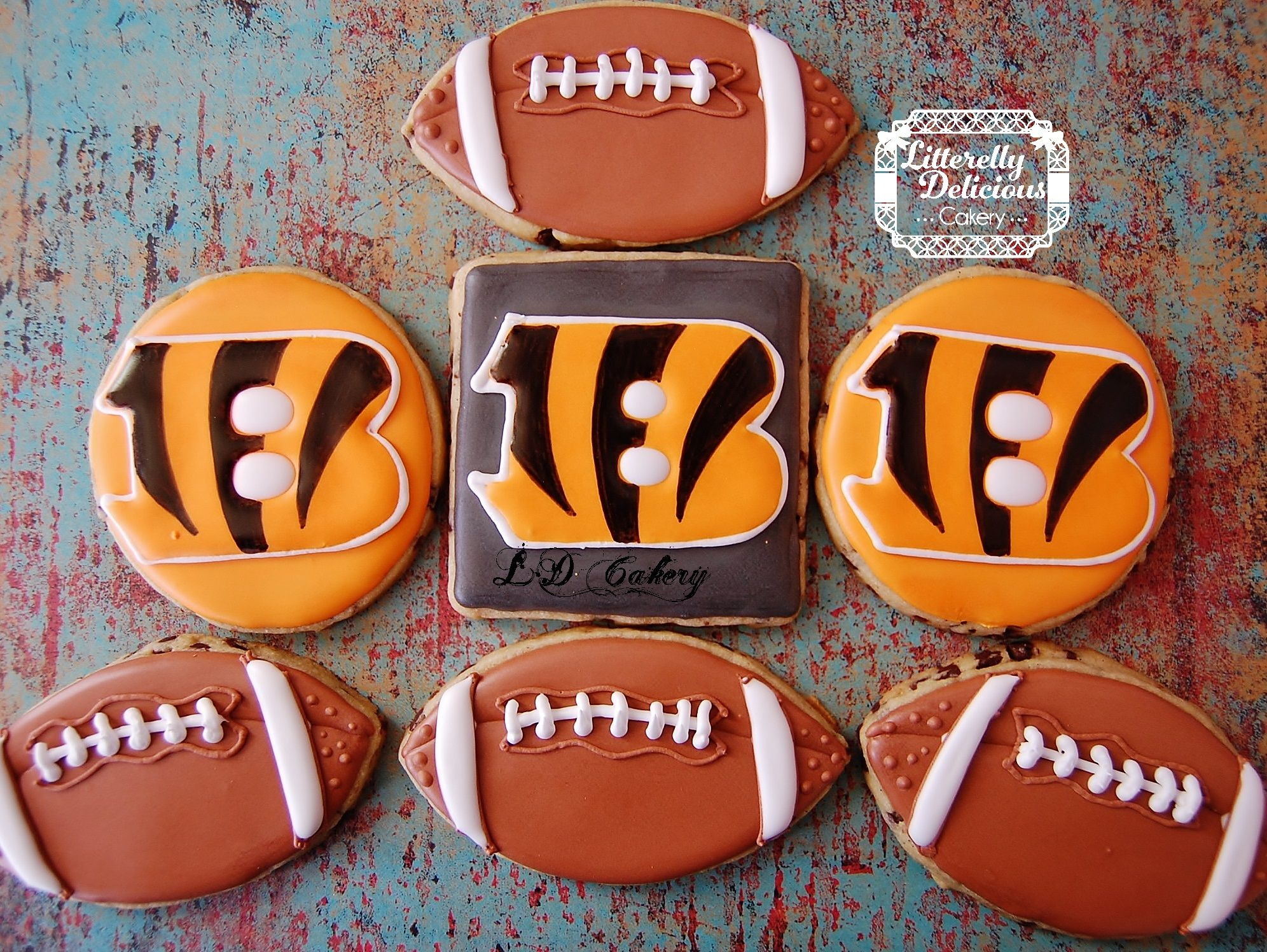 Cincinnati bengal cookies football cookies football