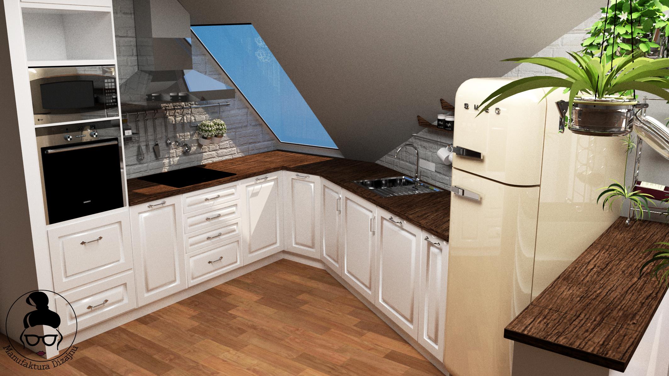 Prowansalska Kuchnia Kuchnia Ze Skosami Kitchen Kitchen Kitchendesign Decor Interior Interiordesign Design Kitchen Cabinets Home Decor Home