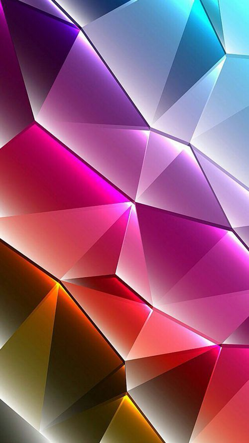 Cool Phone Wallpapers 01 Of 10 With Colorful 3d Triangles Cool Wallpapers For Phones Rainbow Wallpaper Colorful Wallpaper