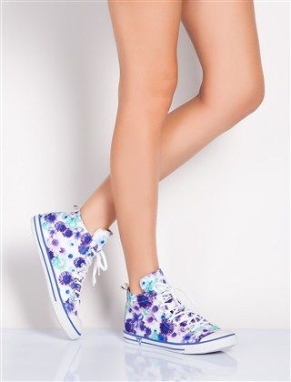 GUESS Sneakers - Purple flowers   Shoes