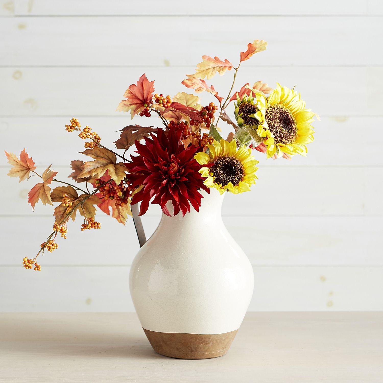 Farmhouse Faux Sunflower Arrangement