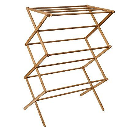 Welland Bamboo Folding Clothes Drying Rack Dry Laundry And Hang