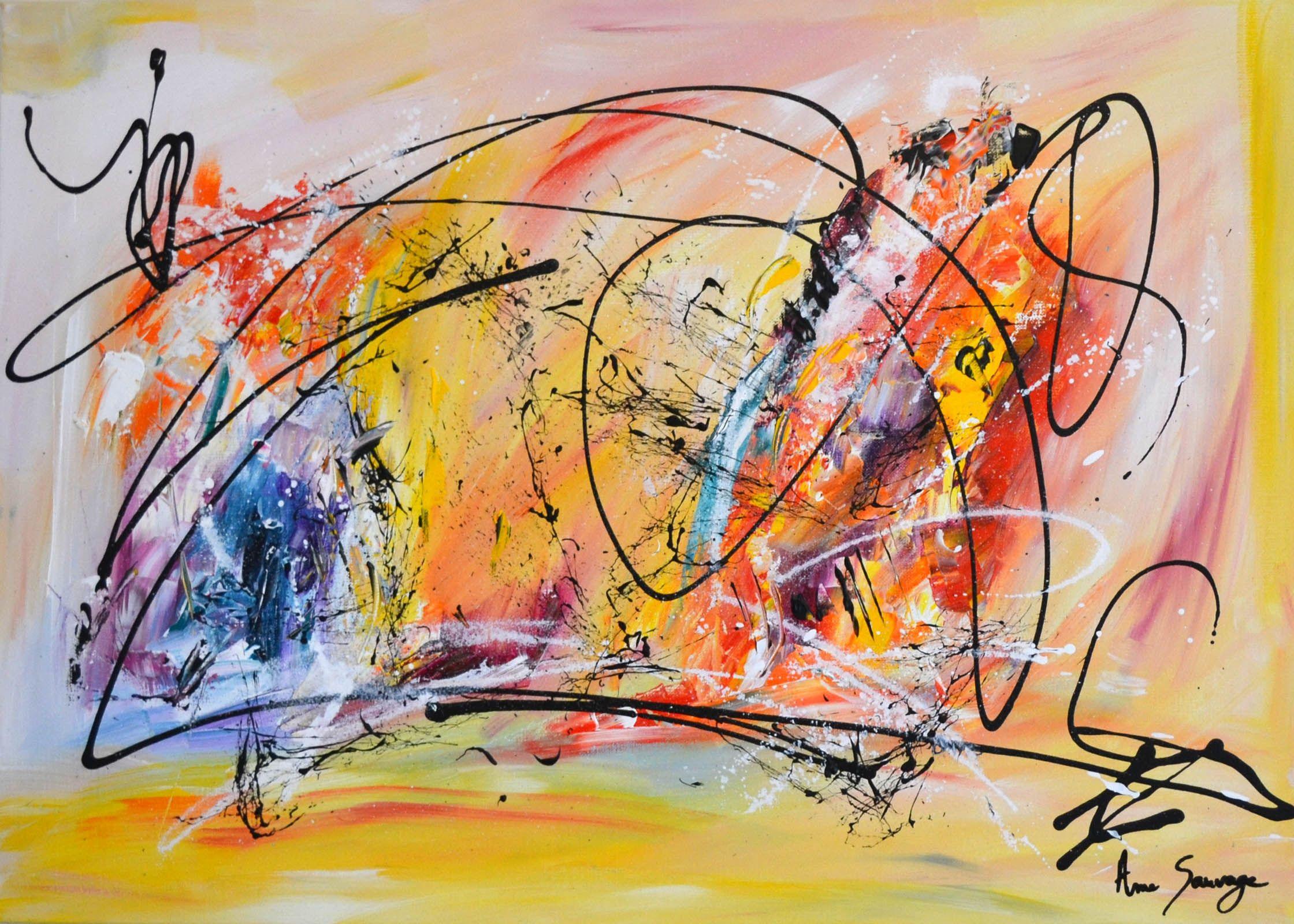 tableau abstrait coloré peint à la main | Peinture abstraite, Peinture  abstraite contemporaine, Comment peindre