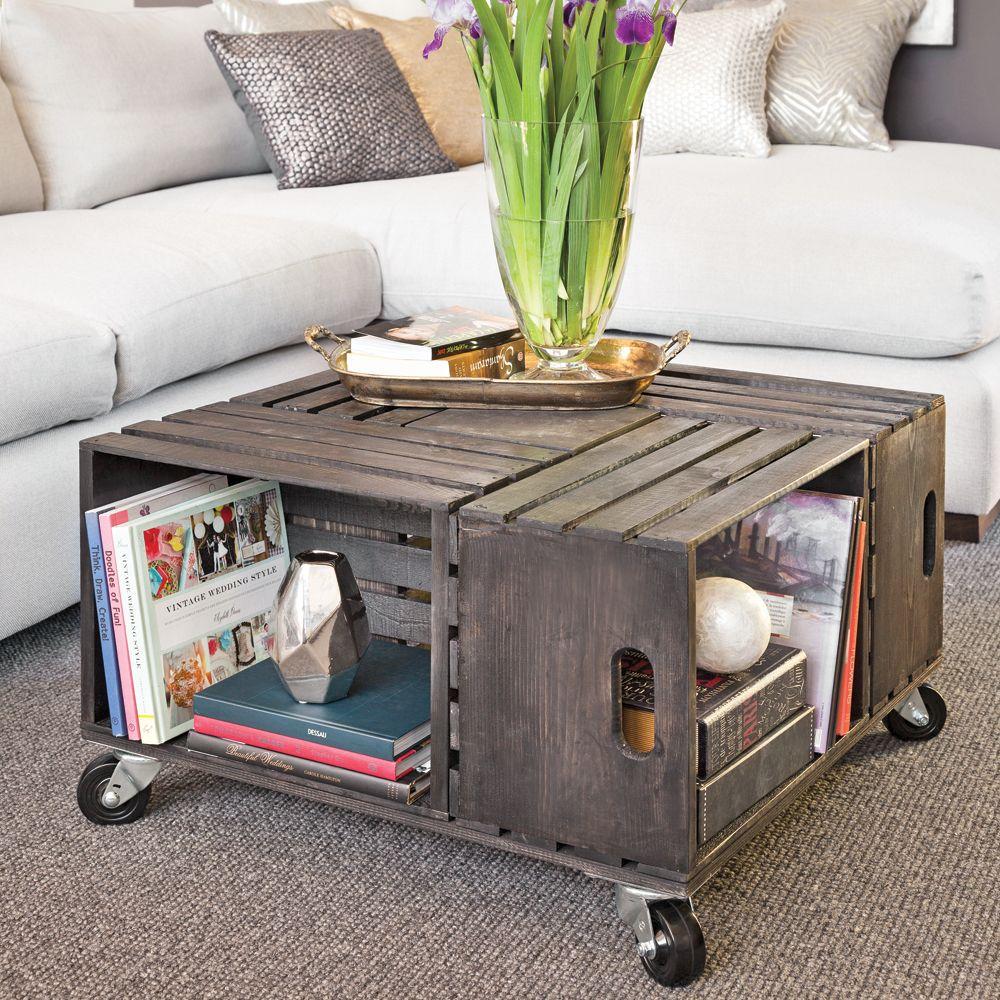 en étapes: une table à café en caisses de bois | projets à essayer