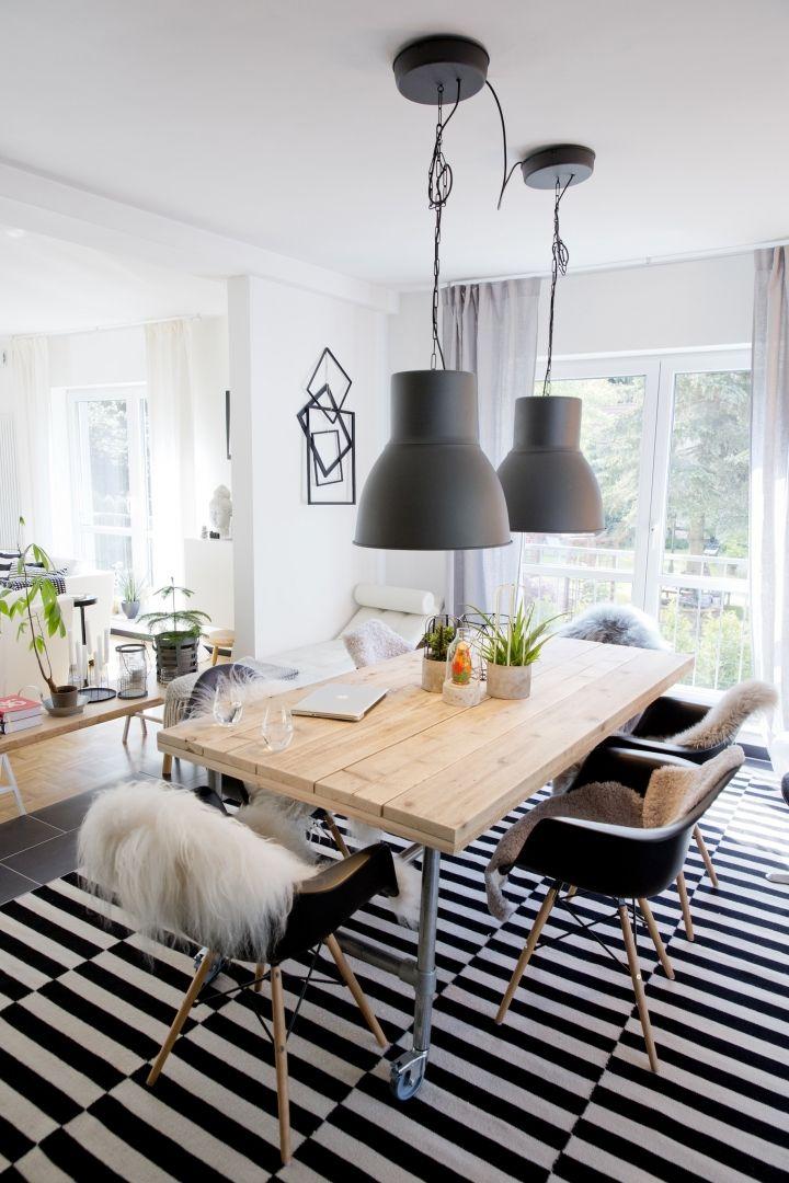 Hausbesuch Wohnzimmer Schwarz-Weiß hejde Dining Pinterest - wohnzimmer modern schwarz weis