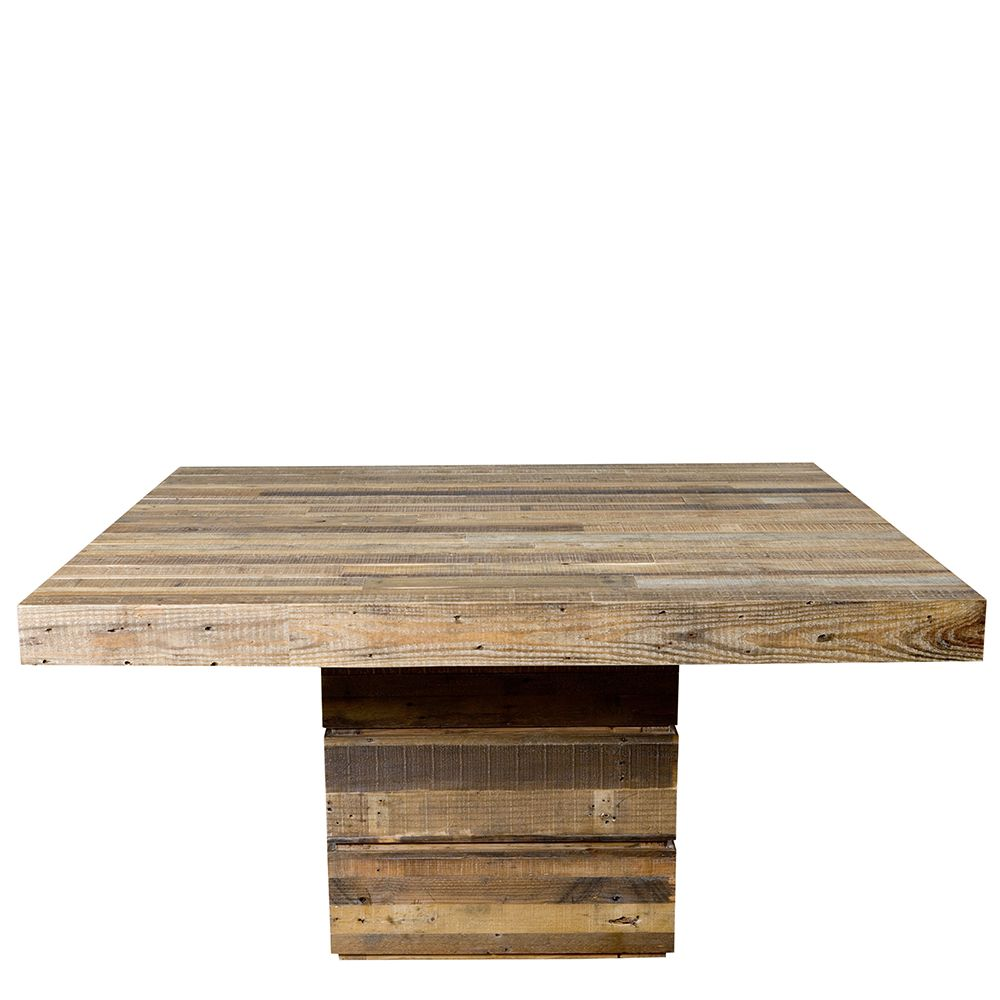 The San Quentin Tahoe Square Dining Table Rustic Dining Table