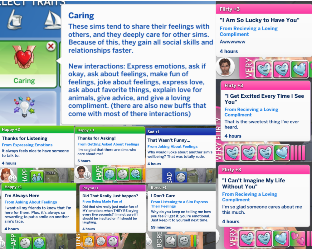 Mod The Sims Trats Argumentative And Caring In 2021 Sims Caring Sims 4 Traits