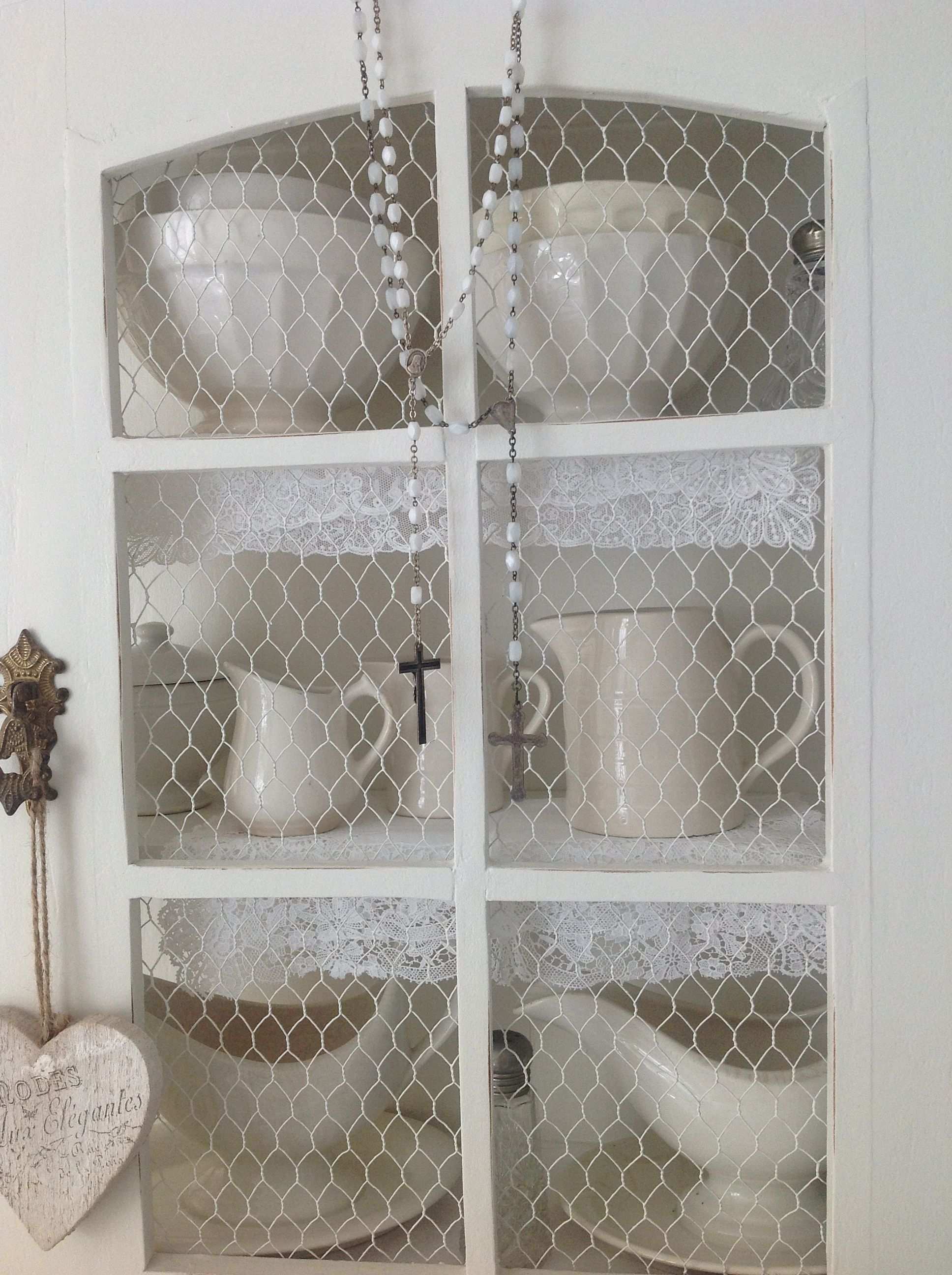 ♥ -...could paint cabinet that holds dishes and replace broken ...
