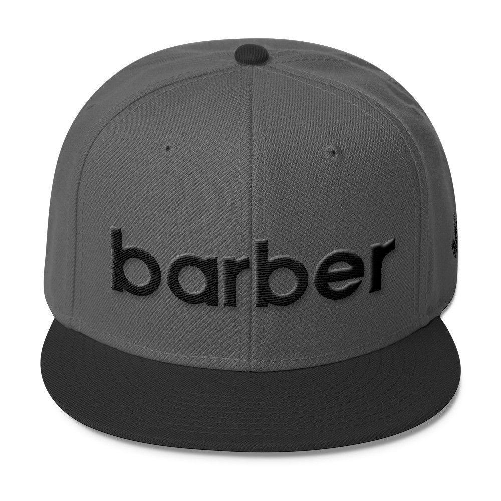 f18de74f6e7 Classic Barber Sports Logo Wool Blend Snapback (black logo)