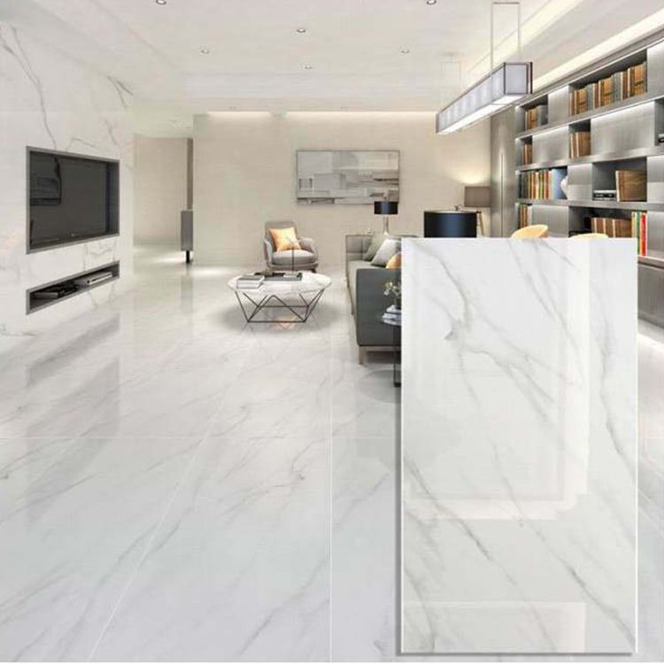 White 600 x 1200mm Polished Ceramic Wall Tile in 2020 ...