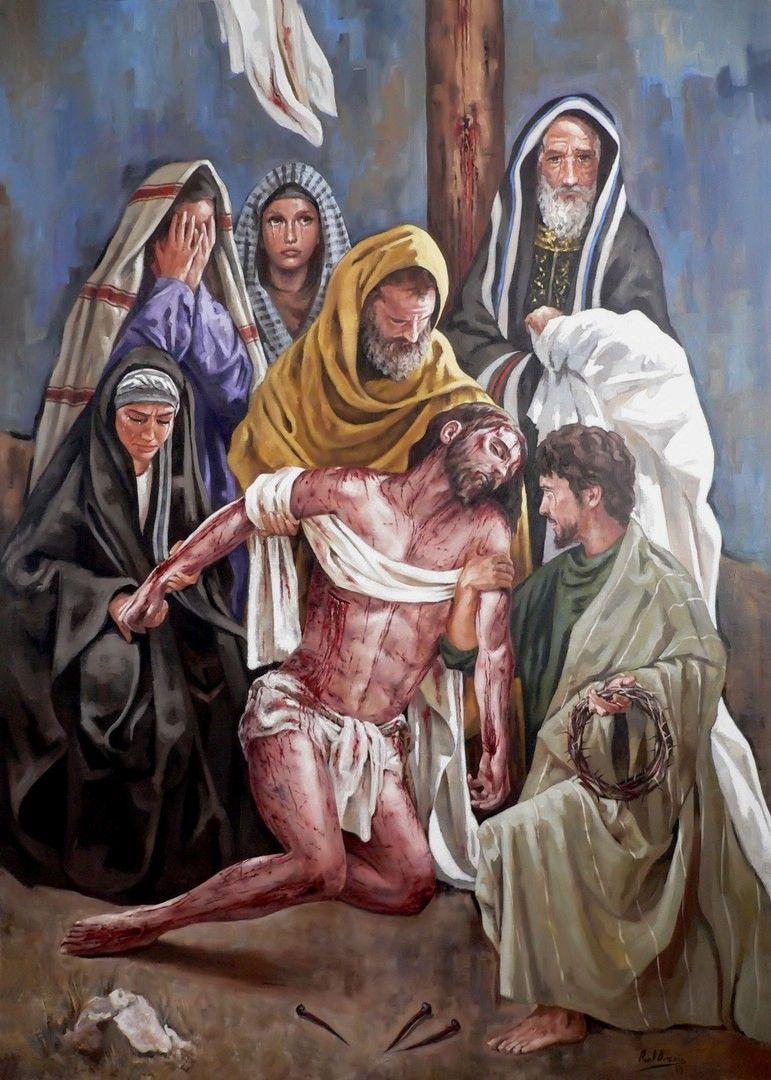 Jesus Christ The Descent From The Cross El Descendimiento De La Cruz Raúl Berzosa Goodfriday Holyw Arte Sacro Arte Cristiano Ilustración Religiosa
