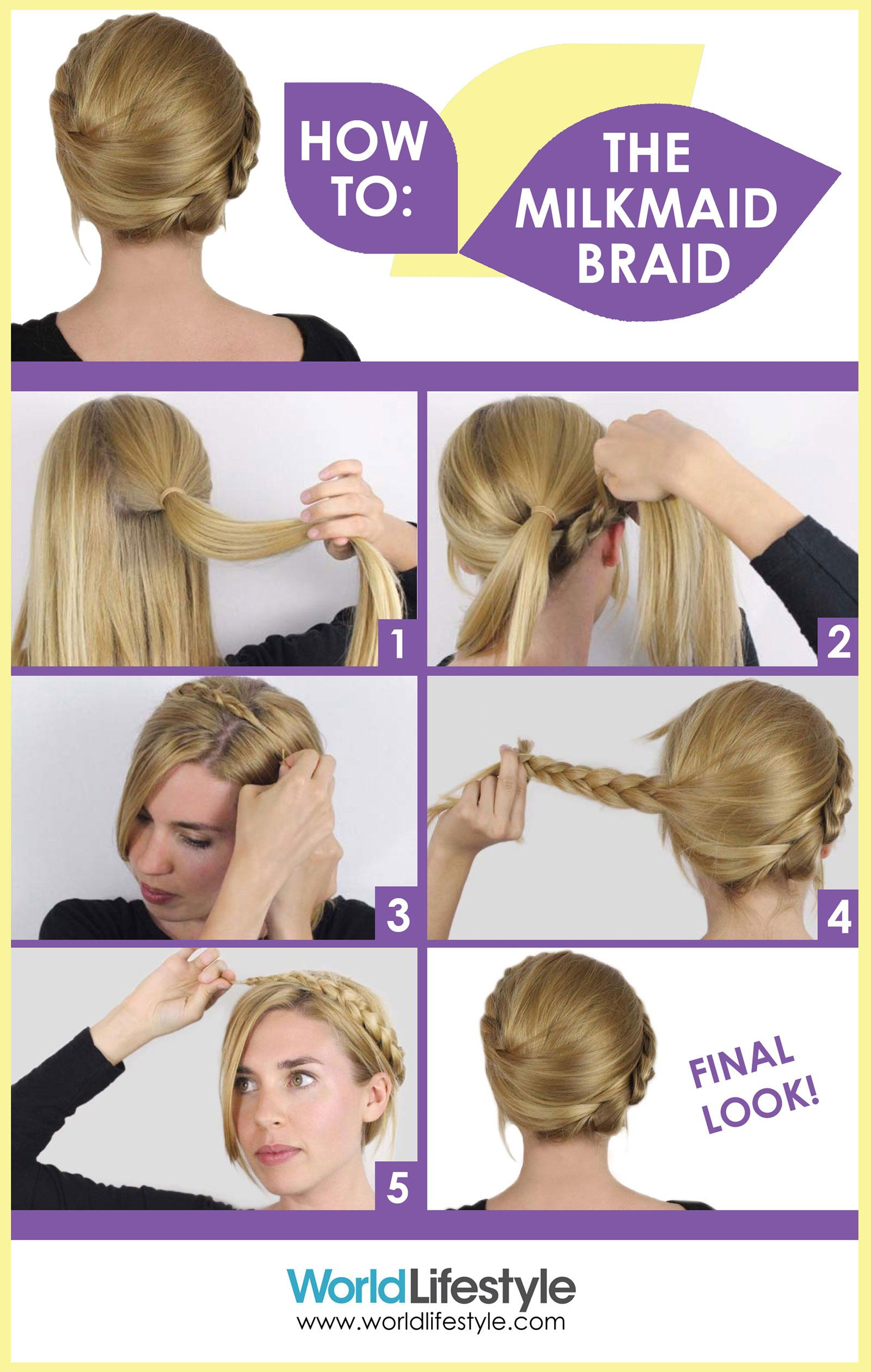 How to do an easy milkmaid braid with hair guru Sasha