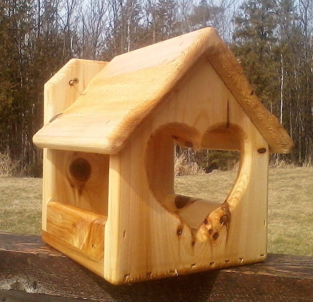 Details about decoratve heart cedar wood dove or robin