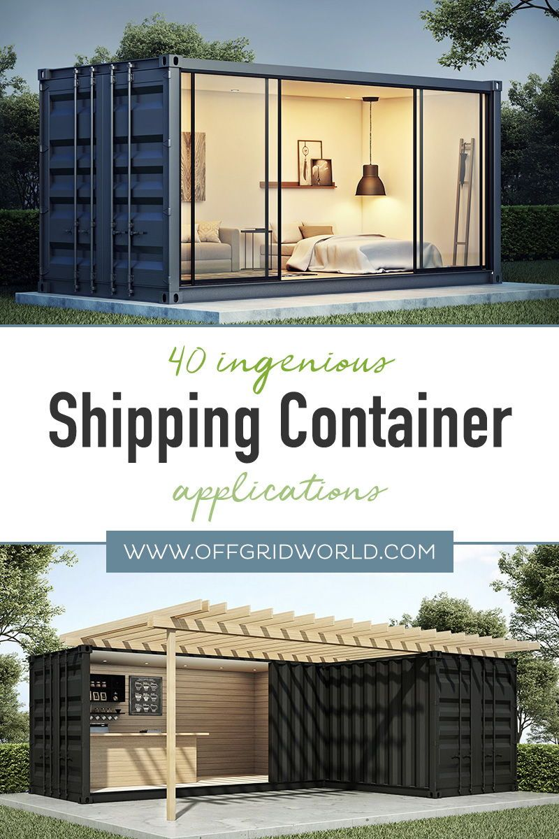 40+ Ways To Use Shipping Containers