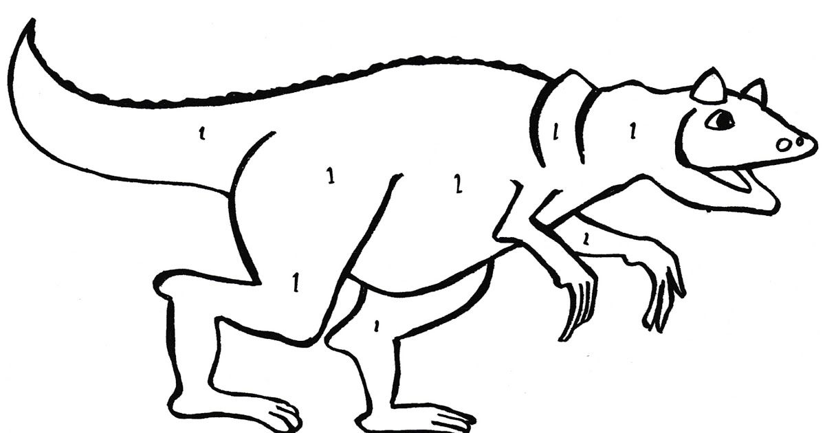 Carnotaurus Coloring Page
