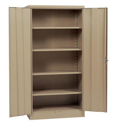 Edsal Rta8005tn 36inch Wide By 24inch Deep By 78inch High Steel Four Shelf Industrial Storage C Industrial Storage Cabinets Tall Cabinet Storage Locker Storage