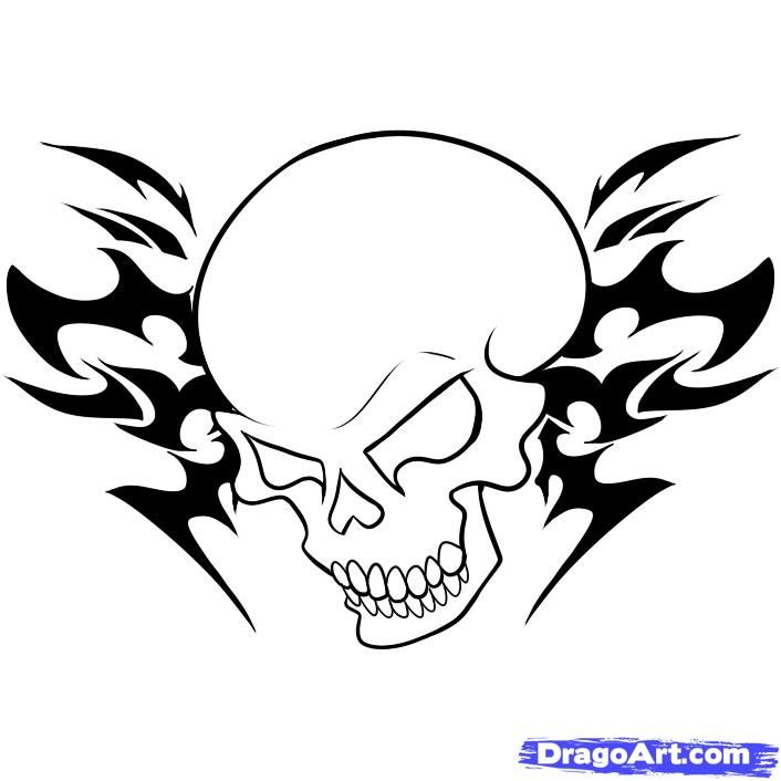 Tattoo Drawings In Pencil Easy Tattoo Designs For Beginners Skull