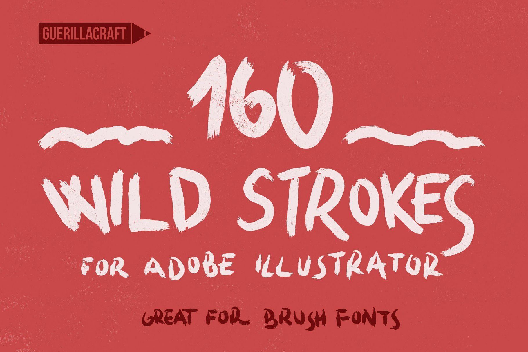 160 Wild Strokes For Illustrator Wild Strokes Brushes Illustrator