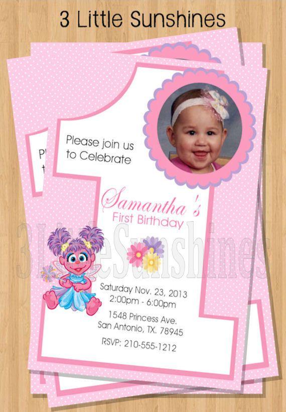1st Birthday Invitations Abby Cadabby UPrint by 3LittleSunshines – Abby Cadabby Birthday Invitations