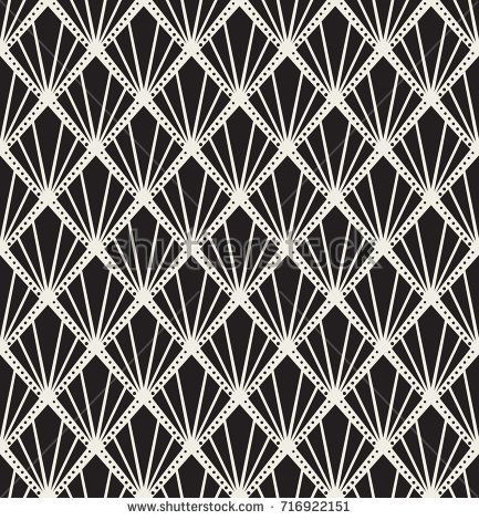 Vector Art Deco Seamless Pattern  Geometric decorative