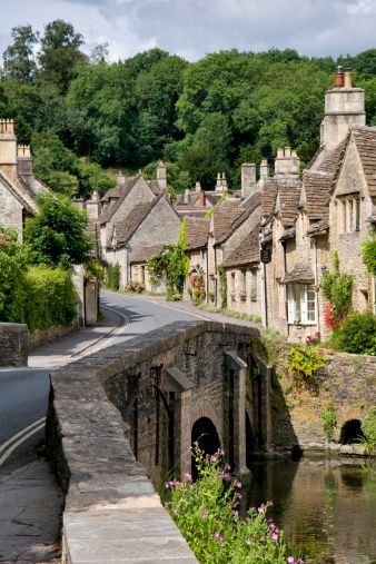 Castle Combe village in the Cotswolds, .England, in my