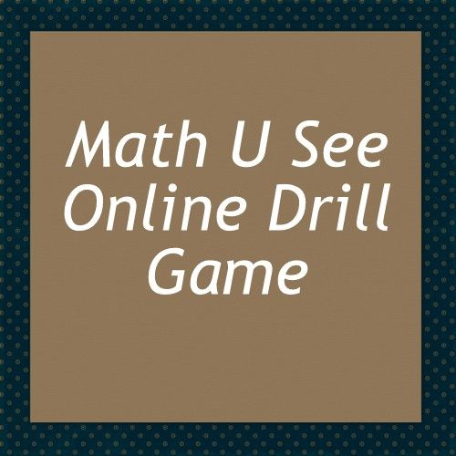 Math U See S Free Online Drill Choose What Fact Families You Want To Practice And Get Work