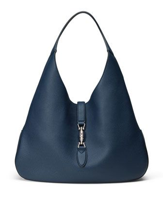 Jackie Soft Leather Hobo Bag, Navy by Gucci at Neiman Marcus.   Mine ... 185f0d1968