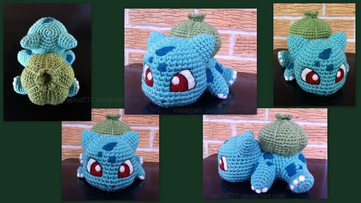 12 Free Pokemon Go Amigurumi Crochet Patterns | Bulbasaur, Pokémon ...