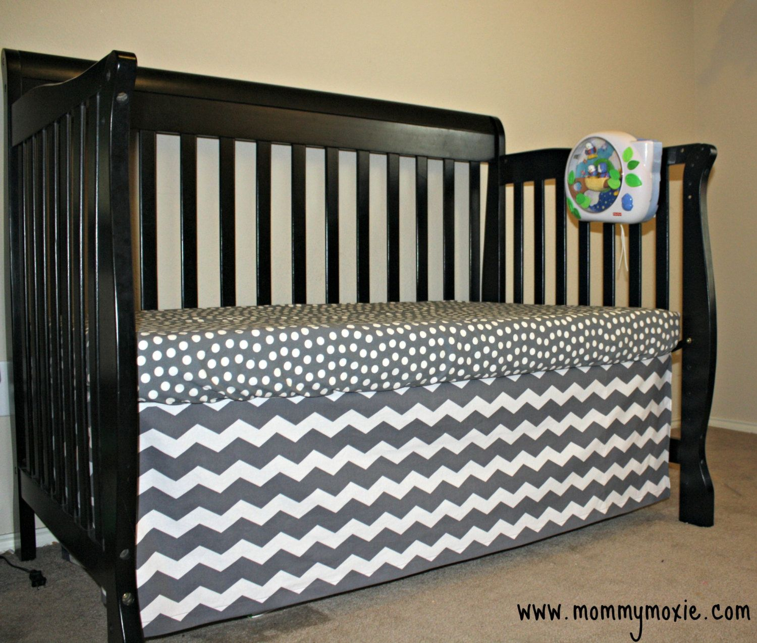 CUSTOM Flat Straight Crib Skirt  In Chevron or Your by MommyMoxie, $65.00