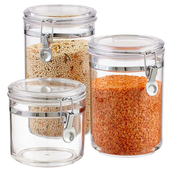 Hermetic Acrylic Canisters Glass Food Storage Container Store Glass Food Storage Containers