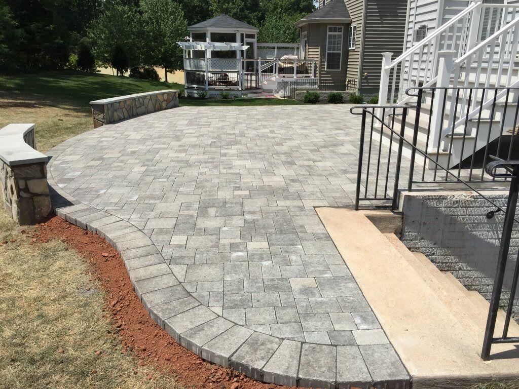 Best A Beautiful Hanover Paver Patio With Stone Seating Walls 400 x 300