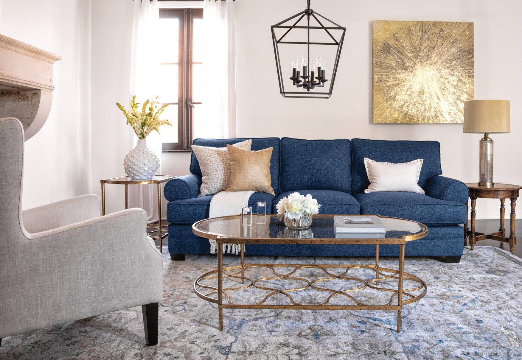 There S A Special Place For The Past In Newport Estates A Lifestyle That Honors And Updates Cla Blue Living Room Decor Blue Sofas Living Room Blue Sofa Living #updating #living #room #ideas