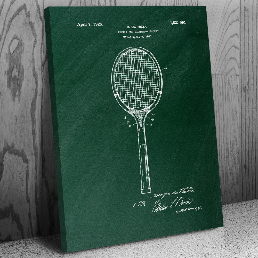 Tennis Badminton Racket Canvas Print