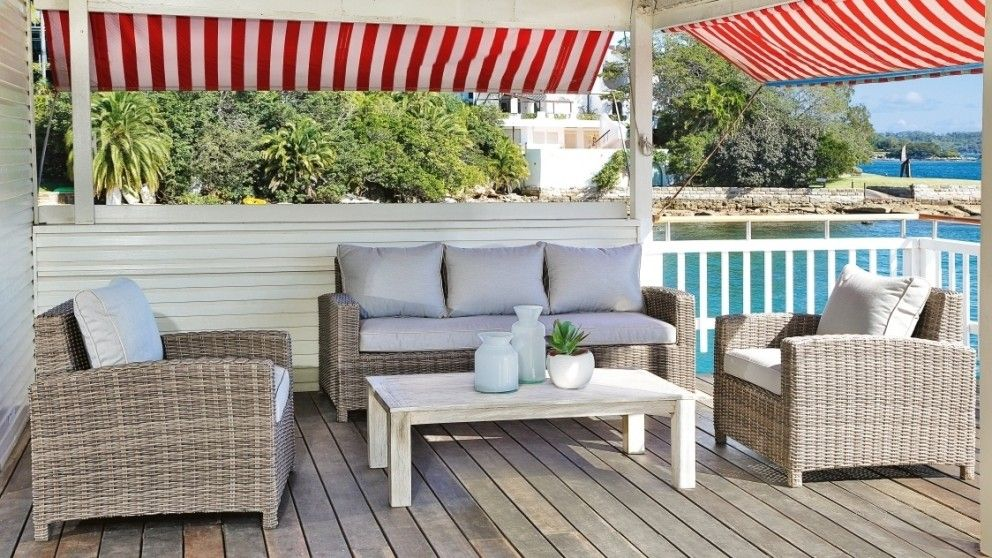 Capella 4 Piece Outdoor Lounge Suite - Outdoor Living - Furniture ...