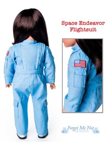 Forget Me Not Designs Space Endeavor Flightsuit 18 inch Doll Clothes Pattern American Girl Dolls | Pixie Faire #18inchdollsandclothes