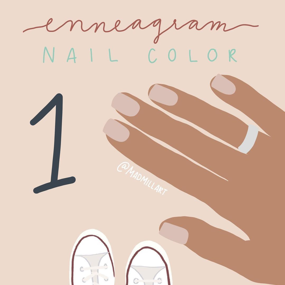 """maddie on Instagram: """"Here's something a little different just for fun! #enneagram nail colors! I promise plenty more outfits are coming this week 💛 Here's type…"""""""