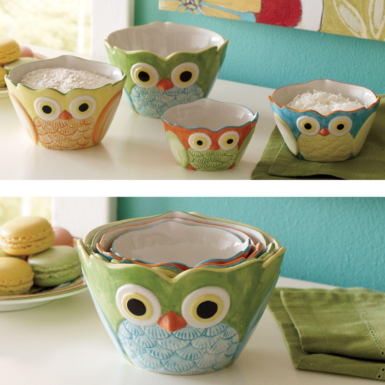 Owl Measuring Cups Owl Decor Owl Kitchen Decor Owl Kitchen