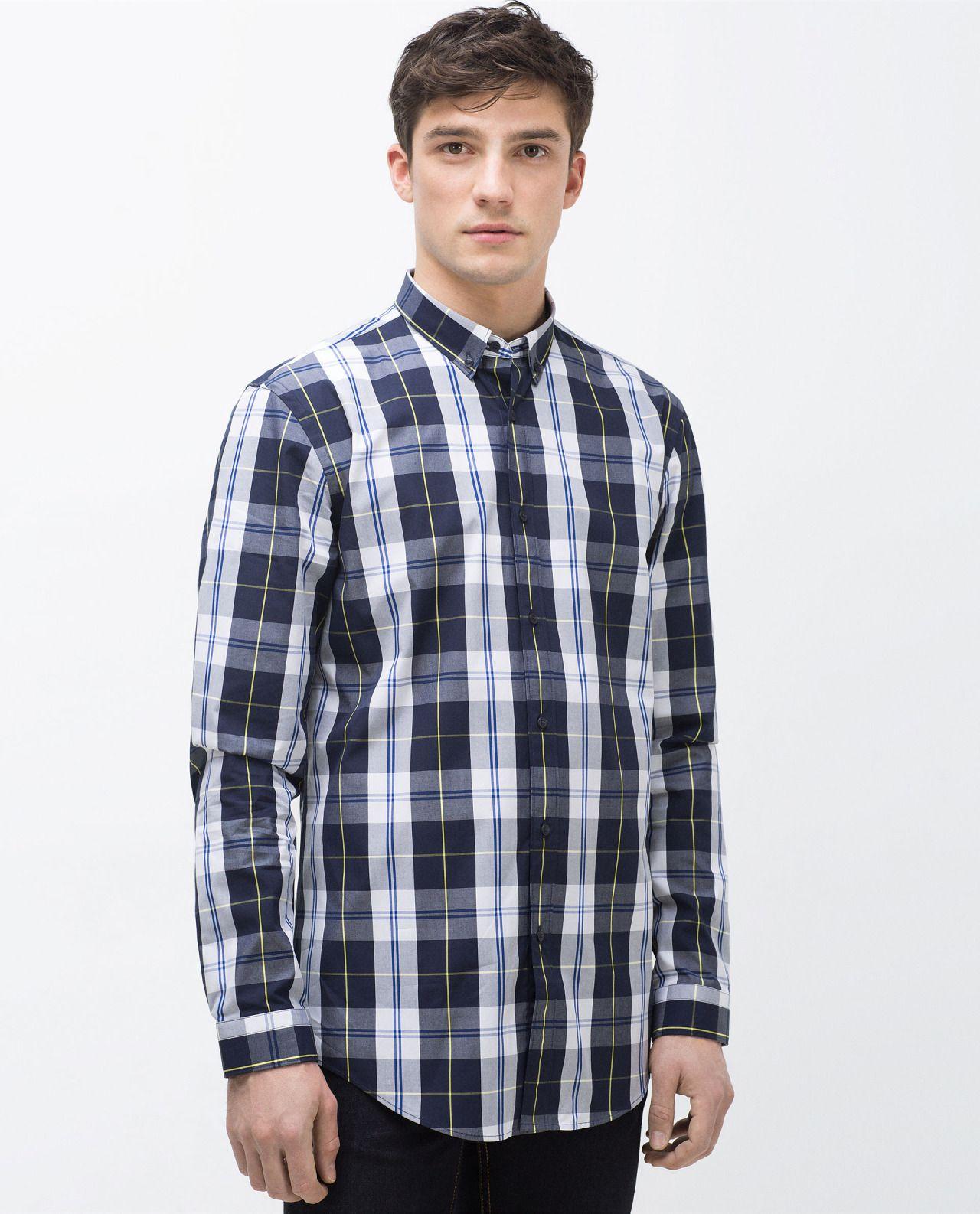 Ben Sherman Mens Long Sleeve Herringbone Check Button Down Shirt