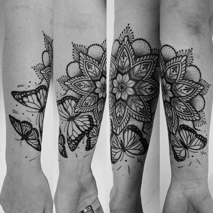 butterfly mandala tattoo tattoos pinterest mandala t towierung tattoo handgelenk und. Black Bedroom Furniture Sets. Home Design Ideas