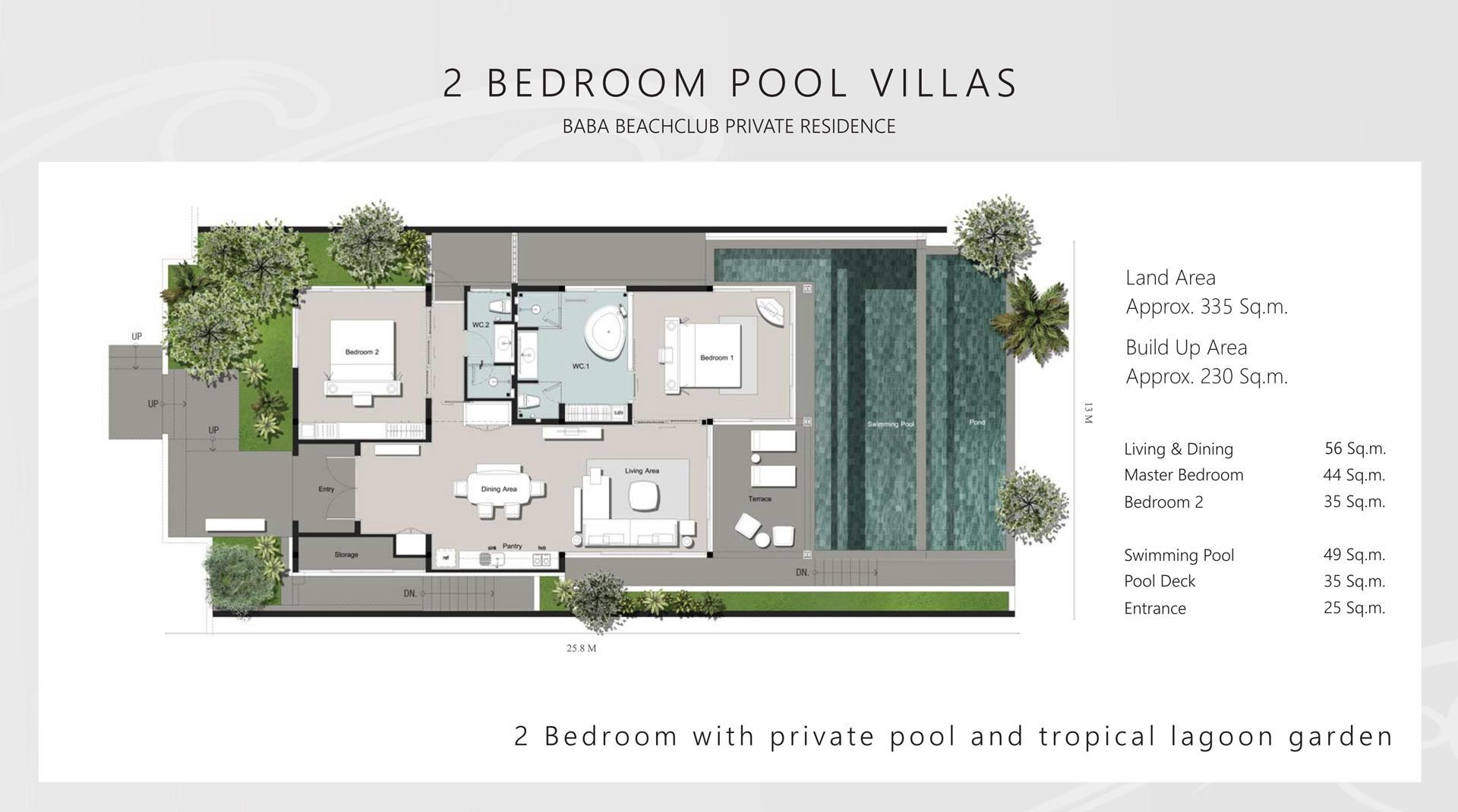 01 Two Bedroom Pool Villa Floor Plan Jpg Resort Design Plan Villa Pool Hotel Room Design Plan