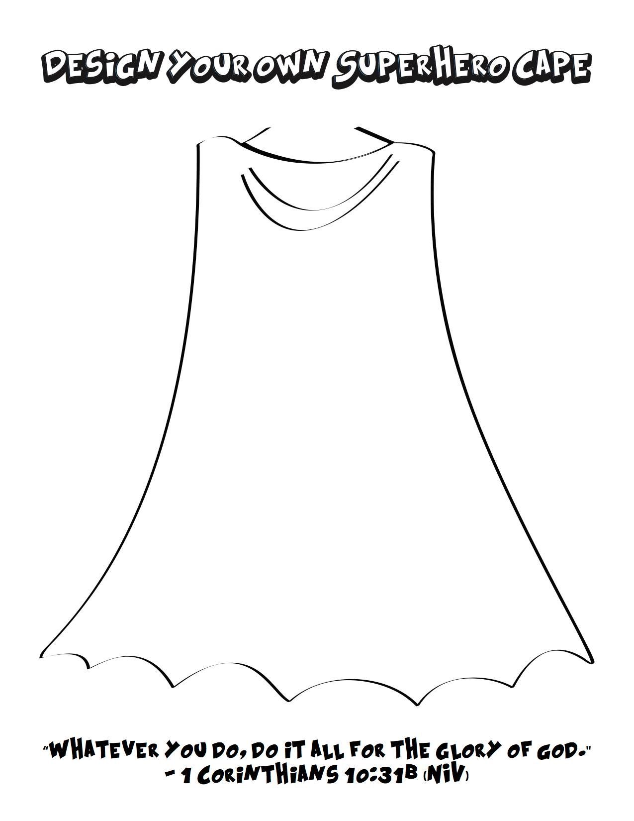 Design Your Own Superhero Cape Design Your Own Superhero Superhero Coloring Pages Superhero Coloring