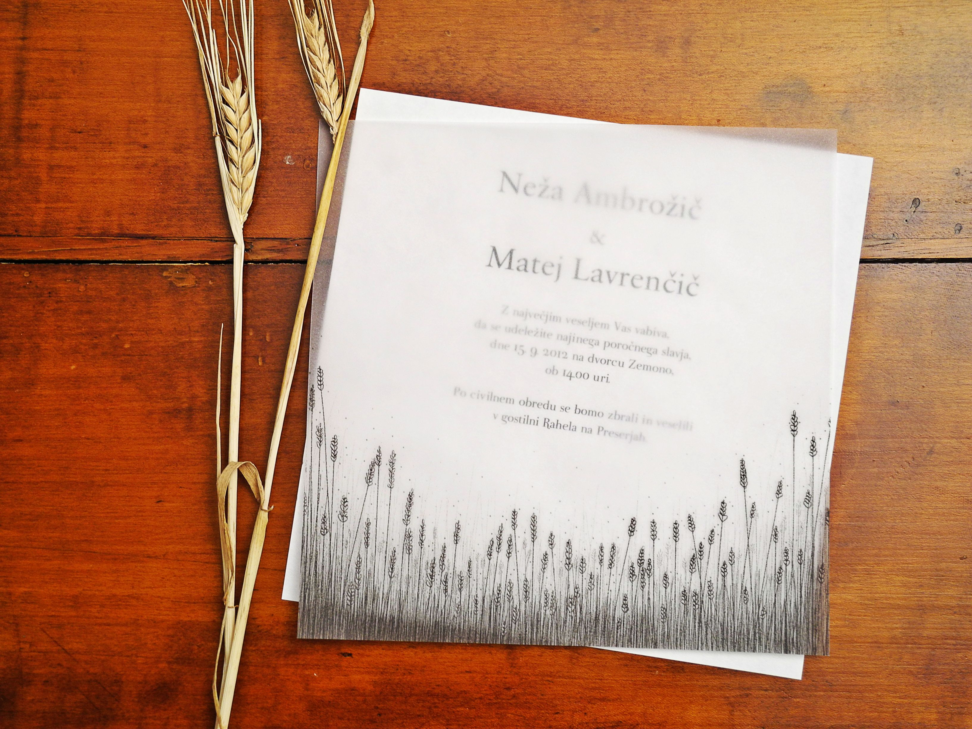 Wheat field wedding invitation by http://thlovedesign.wordpress.com ...