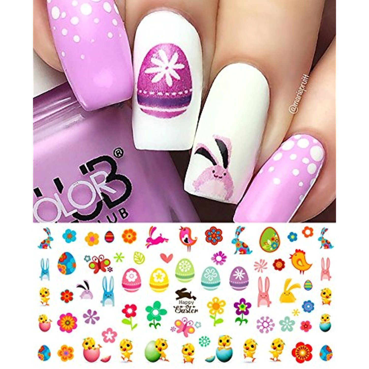 Easter Nail Decals Assortment Nailartaccessories Nail Art