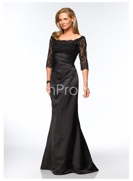 Charming Mermaid Off-the-Shoulder Floor-Length Taffeta Mother of the Bride Dress MT-0021