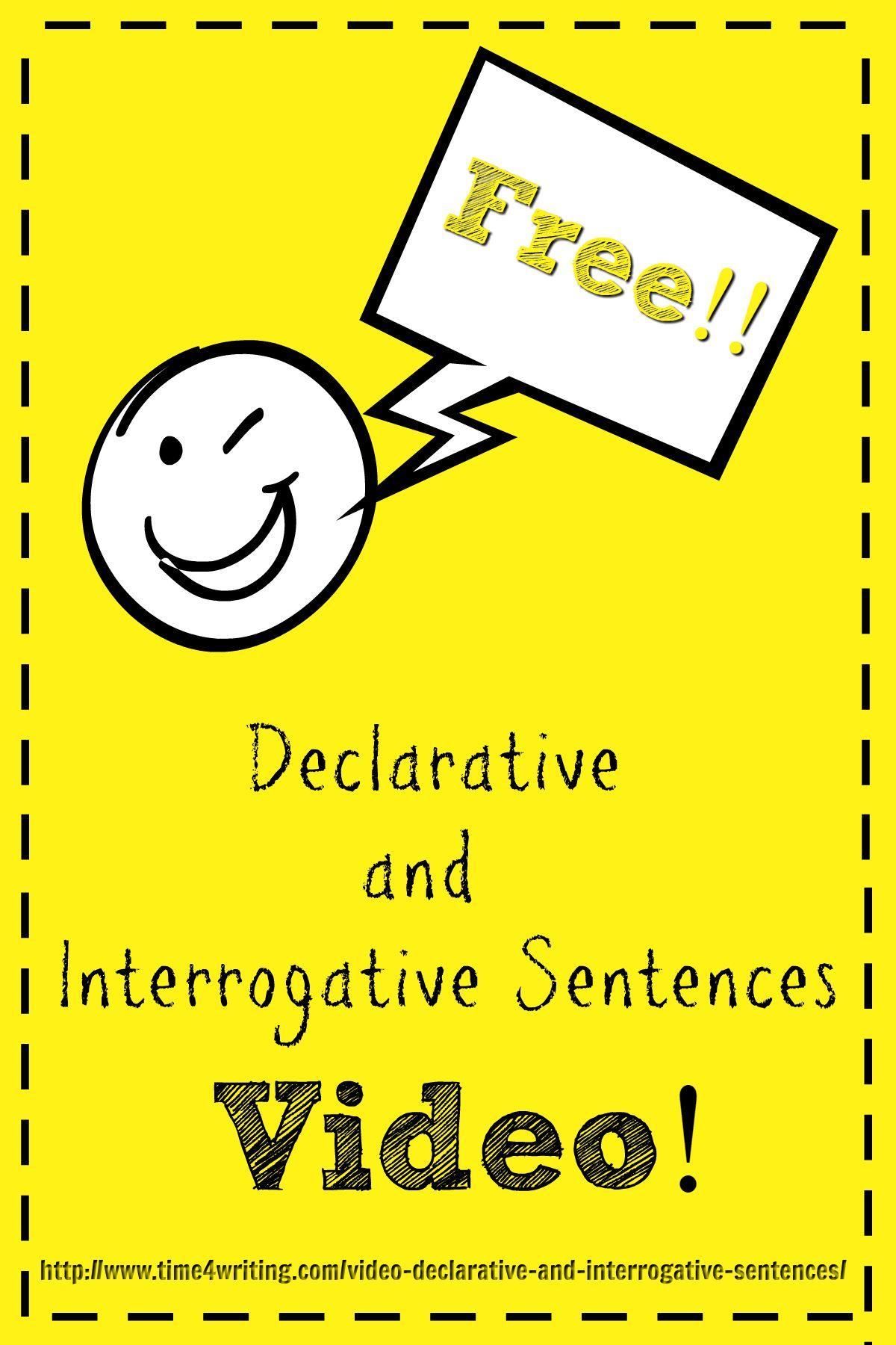 Video Declarative Amp Interrogative Sentences
