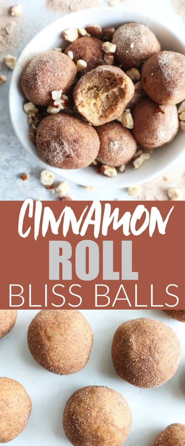 Cinnamon Roll Bliss Balls