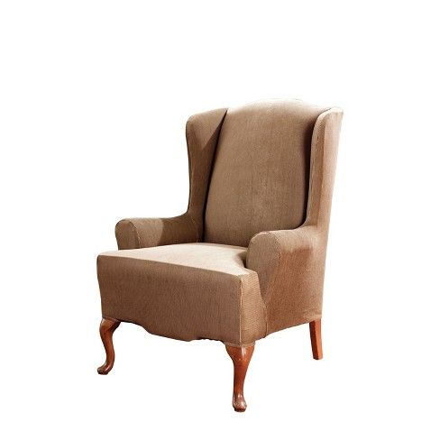 Stretch Stripe Wing Chair Slipcover - Sure Fit : Target ...