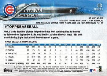 2018 Topps 53 Alex Avila Back 2018 Baseball Cards Baseball