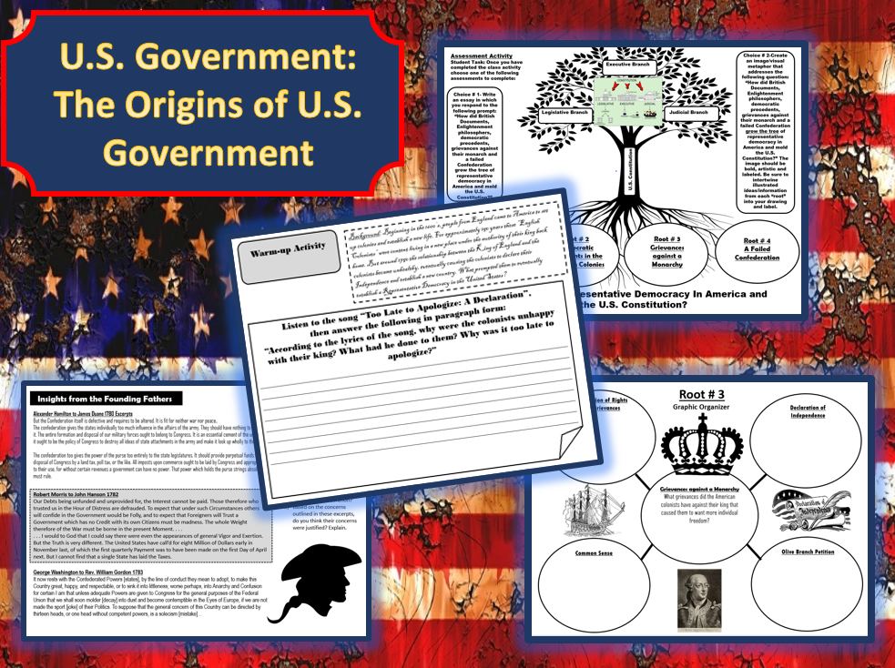 U S Government The Origins Of U S Government Student Activity